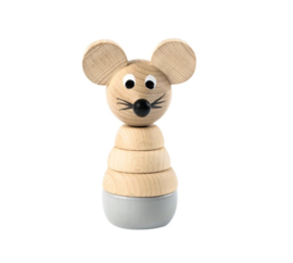 Sarah & Bendrix Cecil - Wooden Stacking Mouse Toy
