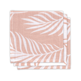 Jollein Muslin Mouthcloth Nature pale pink (3pack)