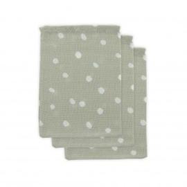 Jollein Hydrofiel washandje Little Lemonade Dots grey (3pack)