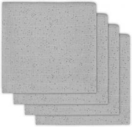Jollein Hydrofiel luier Mini dots mist grey (4pack)