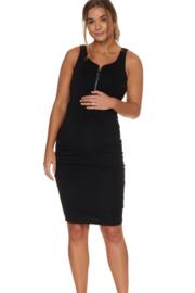 Bae I Zwangerschapsjurk Perfect Match Zip Dress Black