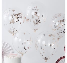 Ginger Ray Balloons 'Confetti' Rosé