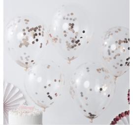Ginger Ray Ballonnen 'Confetti' Rosé