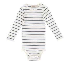 MarMar romper lange mouw - Shaded Blue Stripe