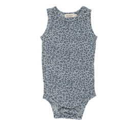 MarMar onesie sleeveless Leo Shaded blue