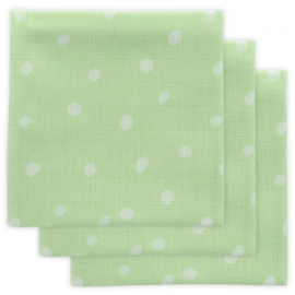 Jollein Muslin Mouthcloth Little Lemonade Dots green (3pack)