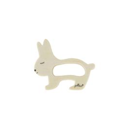 Jollein houten speelgoed bijtring konijn