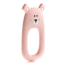 Little Cheeks - Teething Ring Bear pink