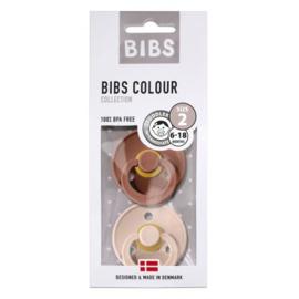 Bibs 2-pack fopspeen Woodchuck + Blush 6-18 maand