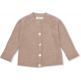 Konges Sløjd | Meo Cardigan Cotton Brown Melange