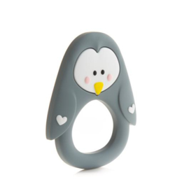 Little Cheeks - Teething Ring Pinguin grey