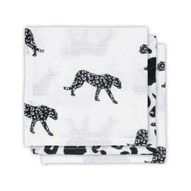 Jollein Mouthcloth muslin Leopard (3pack)