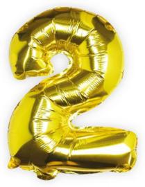 Ginger Ray Folie Ballon cijfer 2 Goud
