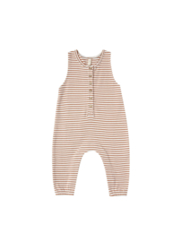 Quincy Mae I Sleeveless Jumpsuit Rust Stripe