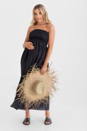 Legoe | Zwangerschapsjurk Cubaa Maxidress  - Zwart