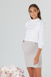 Legoe |  Maternitytop Manilla Crop - White