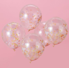 Ginger Ray Ballonnen 'Confetti Ster'  Pastel