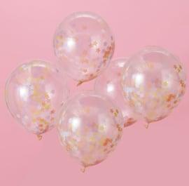 Ballonnen 'Confetti Ster'  Pastel