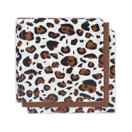 Jollein Mouthcloth muslin Leopard natural (3pack)