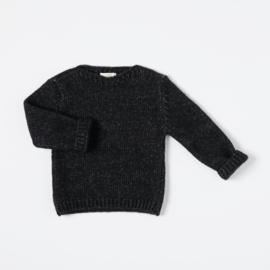 Nixnut Wooly Sweater Black Melange size 80/86