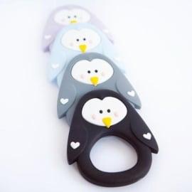 Little Cheeks Pinguin Bijtring grijs