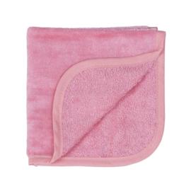 Jollein Monddoekje velvet terry 30x30cm coral pink