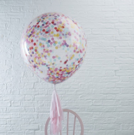 Ginger Ray Mega Balloon 'Confetti' Multi-colour