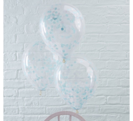 Ginger Ray Ballonnen 'Confetti' Blauw