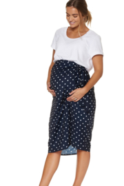 Bae I Maternity Here And Now Wrap Skirt Polka Print