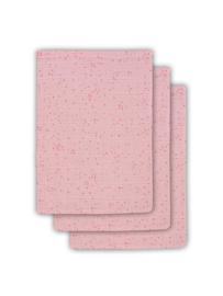 Jollein Hydrofiel washandje Mini dots blush pink (3pack)