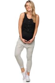 Bae I Zwangerschapsbroek Beating Heart Lounge - Stripes (maat XS)