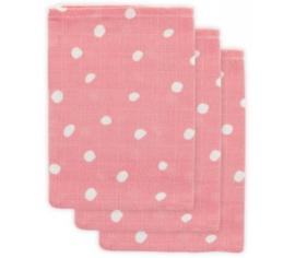 Jollein Hydrofiel washandje Little Lemonade Dots pink (3pack)