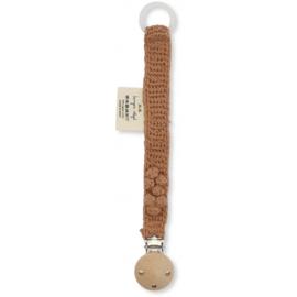 Konges Sløjd | Pacifier Clip Knit Cotton Sahara