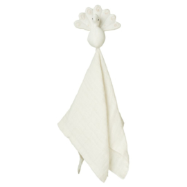 Camcam Peacock Cuddle Cloth Creme White