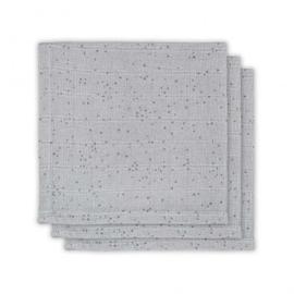 Jollein Monddoekje hydrofiel Mini dots mist grey (3pack)