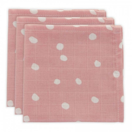 Jollein Muslin Mouthcloth Little Lemonade Dots pink (3pack)