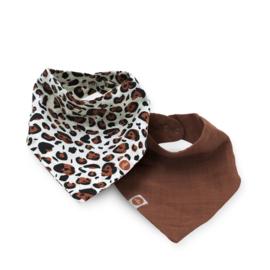 Jollein Slab bandana hydrofiel Leopard natural (2pack)