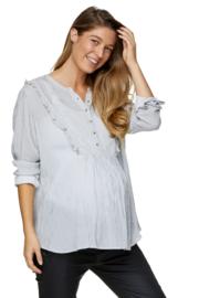 Bae I Zwangerschapstop Something Special Frill Shirt Stripe