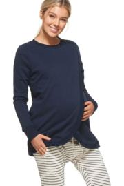 Bae I Maternitysweater Look Twice - Navy