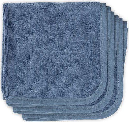 Jollein Monddoekje velvet terry 30x30cm vintage blue 3pack