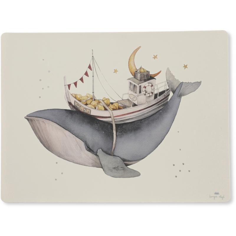 Konges Sløjd   Placemat Siliconen Whale