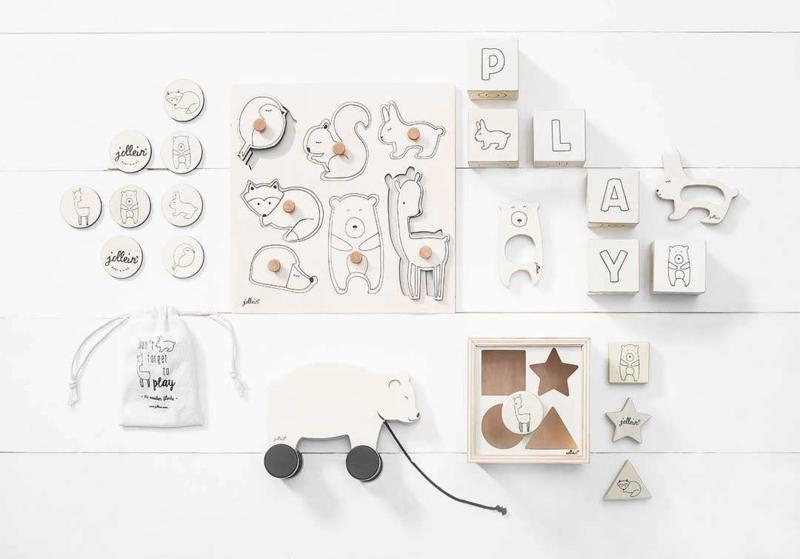 Jollein houten speelgoed memory forest friends   HOUTEN