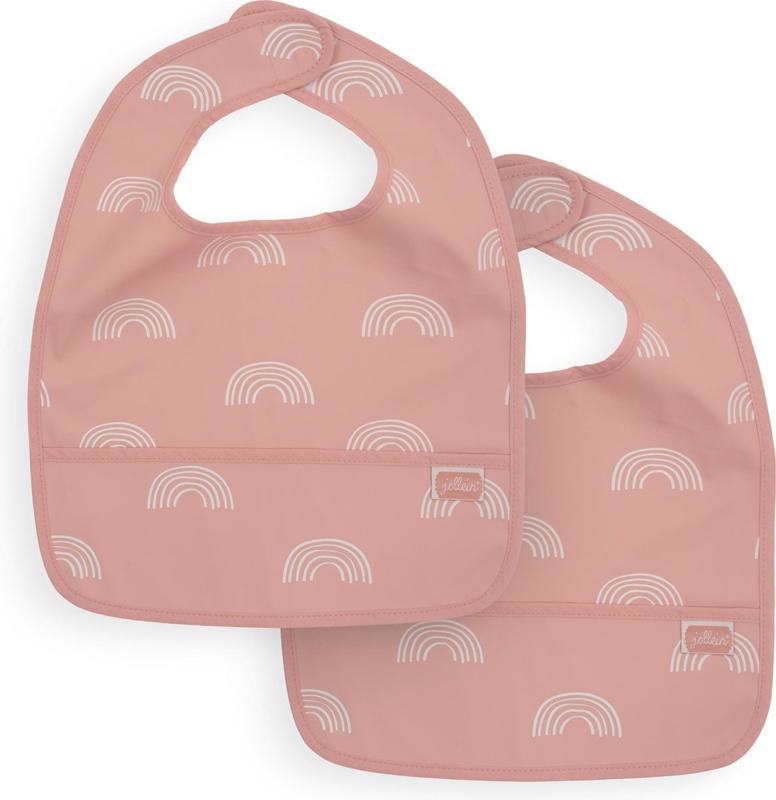 Jollein Slab waterproof Rainbow blush pink (2pack)