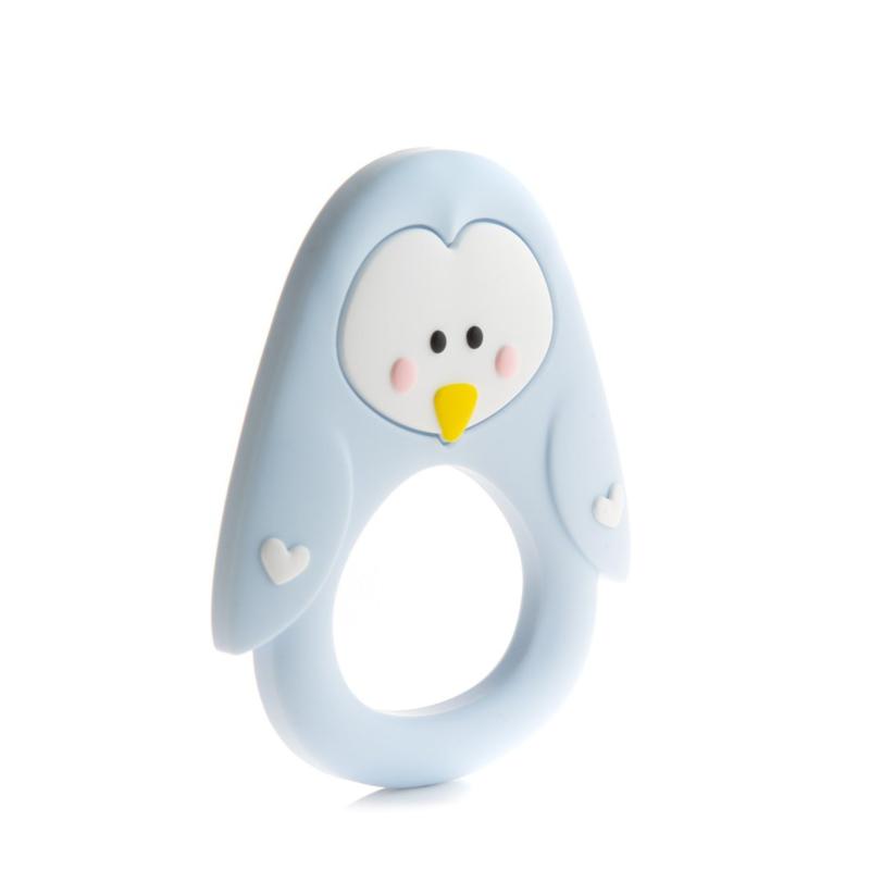 Little Cheeks Pinguin Bijtring licht blauw