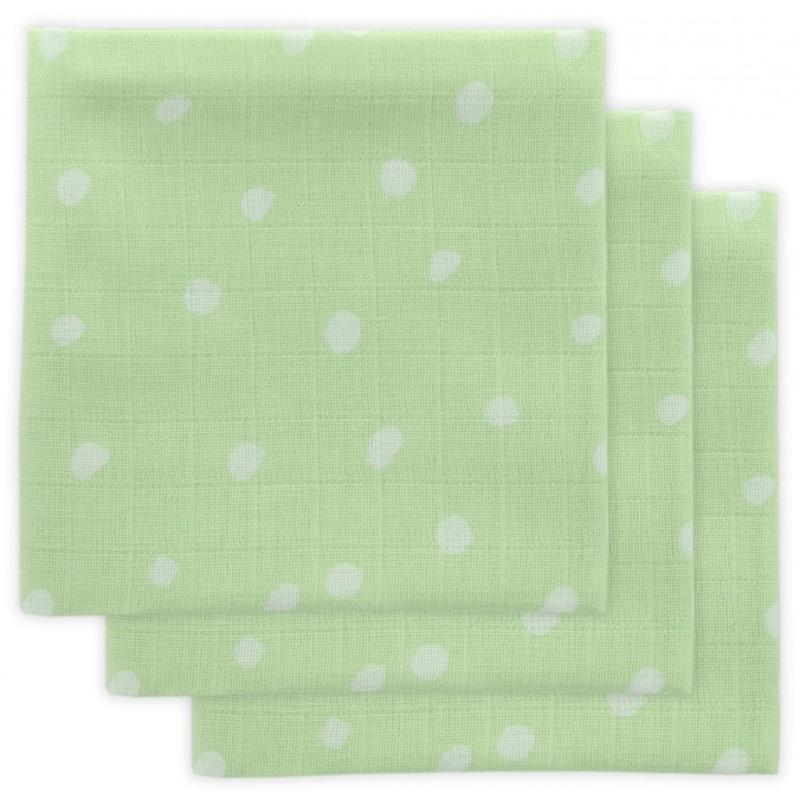 Jollein Hydrofiel monddoekje Little Lemonade Dots green (3pack)