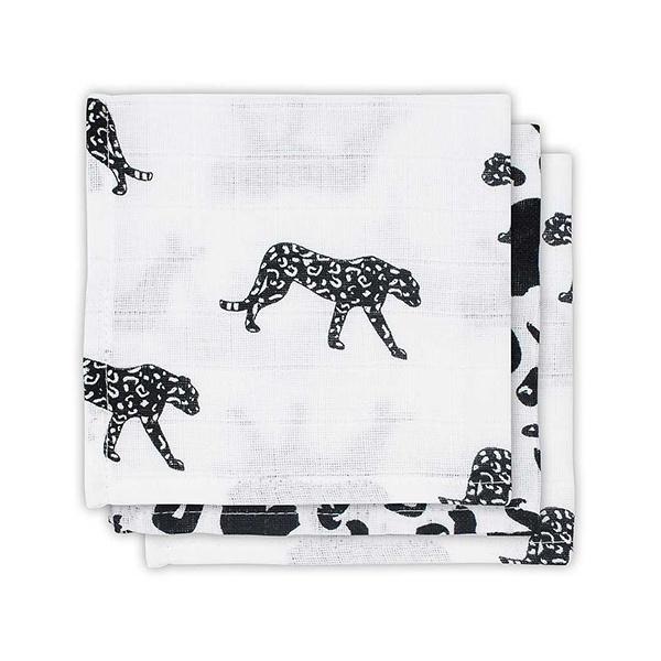 Jollein Monddoekje hydrofiel Leopard (3pack)