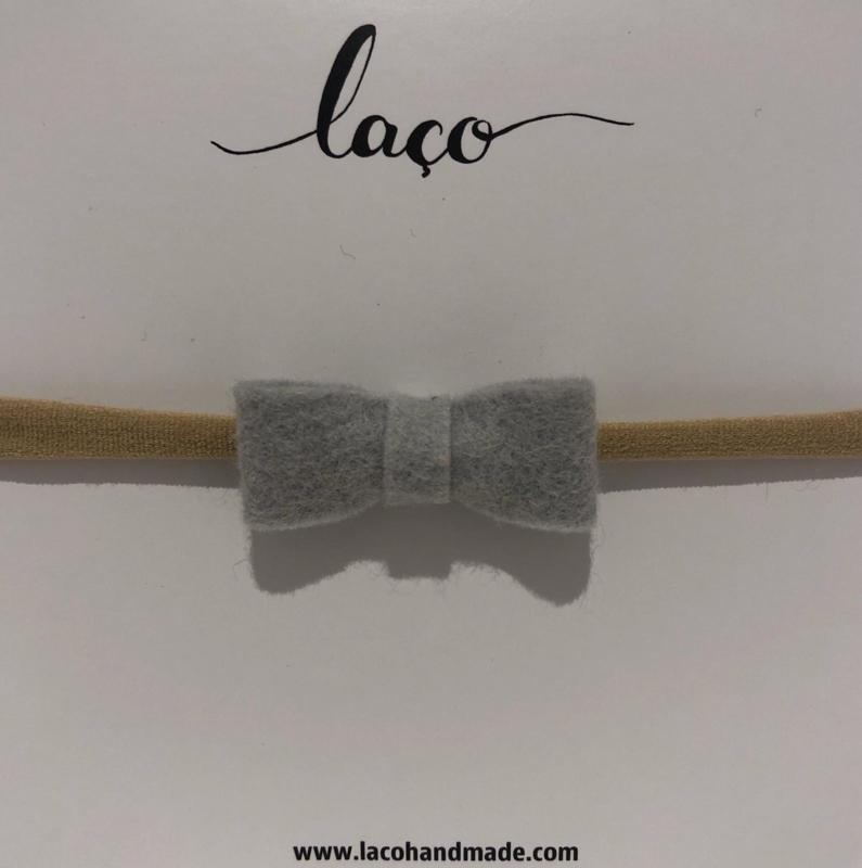 Laco Haarband Strikje Grijs
