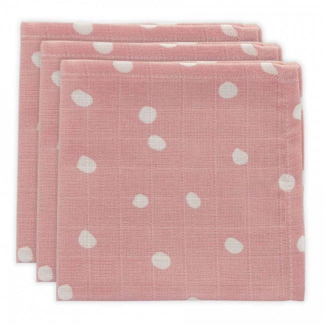 Jollein Hydrofiel monddoekje Little Lemonade Dots pink (3pack)