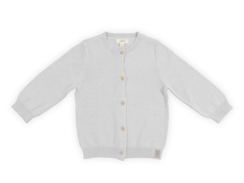 Jollein Vestje Pretty knit soft grey 50/56
