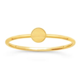 Disc ring // Goldfilled